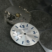 Close up of the Nethuns 925 Silver dial