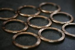 Close up of the Nethuns Bronze bezel